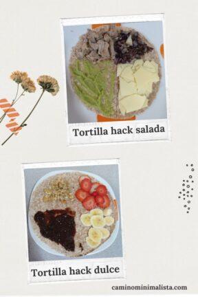 minimalismo_Tortilla hack dulce y salada